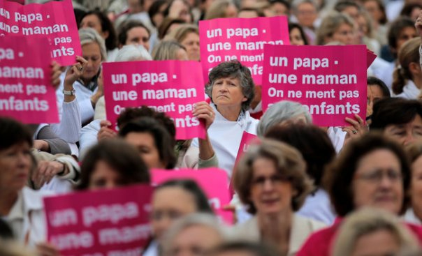france, gay marriage protest